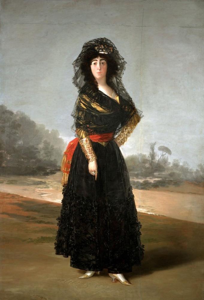Francisco Goya, The Black Duchess, Canvas, Francisco Goya, kanvas tablo, canvas print sales