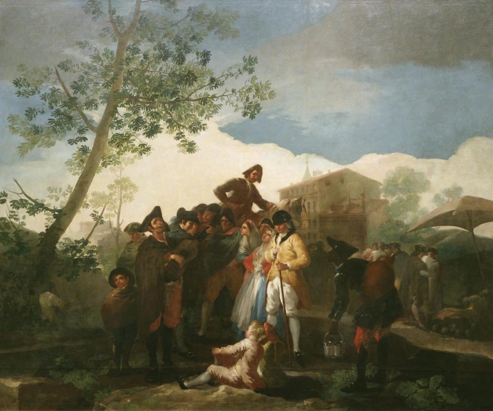 Francisco Goya, Kör Gitarist, Kanvas Tablo, Francisco Goya, kanvas tablo, canvas print sales
