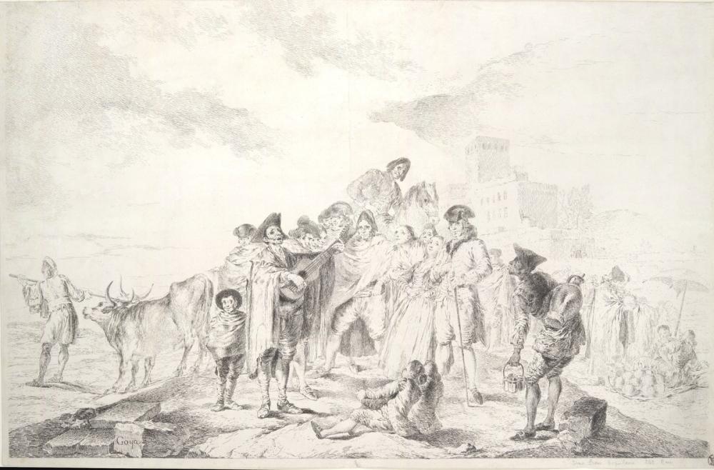 Francisco Goya, Kör Gitarist II, Kanvas Tablo, Francisco Goya, kanvas tablo, canvas print sales