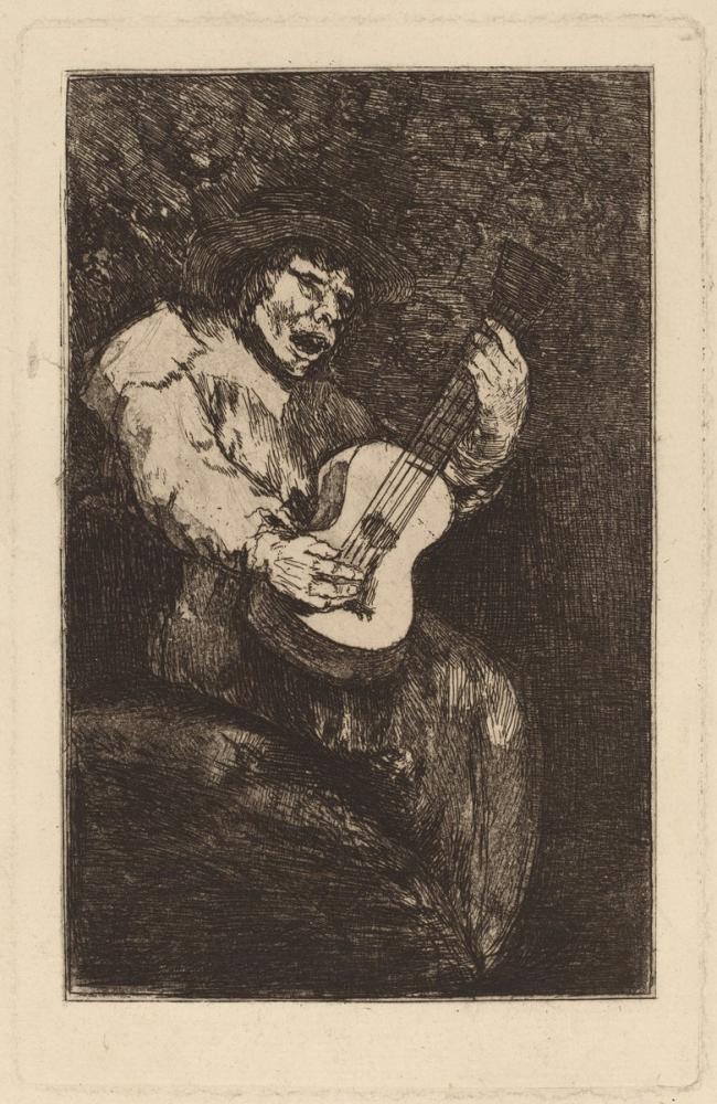 Francisco Goya, Kör Şarkıcı, Figür, Francisco Goya, kanvas tablo, canvas print sales