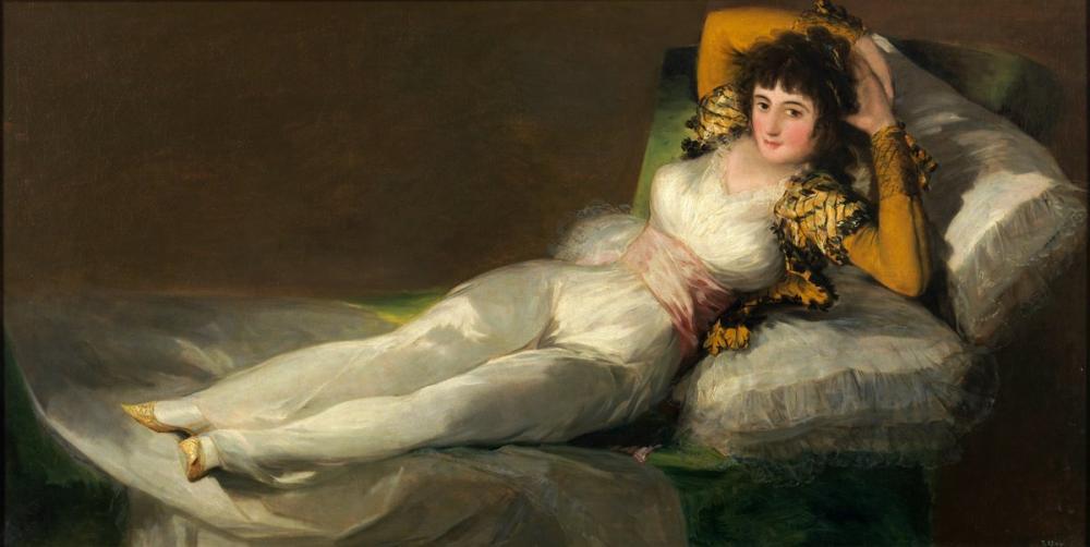 Francisco Goya, Giyinmiş Maja, Kanvas Tablo, Francisco Goya, kanvas tablo, canvas print sales