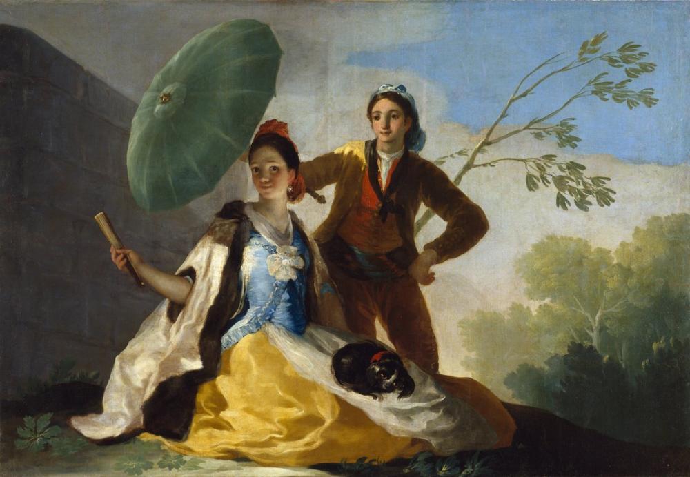 Francisco Goya, The Parasol, Canvas, Francisco Goya, kanvas tablo, canvas print sales