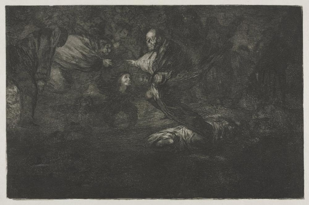 Francisco Goya, The Proverbs God Creates Them and They Join Up Together, Figure, Francisco Goya, kanvas tablo, canvas print sales