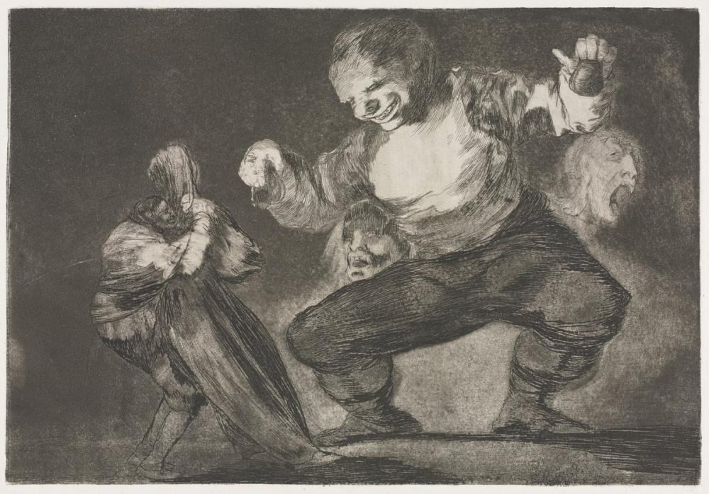 Francisco Goya, Atasözleri Simpleton, Figür, Francisco Goya, kanvas tablo, canvas print sales