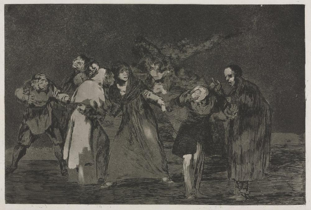 Francisco Goya, The Proverbs Wounds Heal Quicker Than Hasty Words, Figure, Francisco Goya, kanvas tablo, canvas print sales