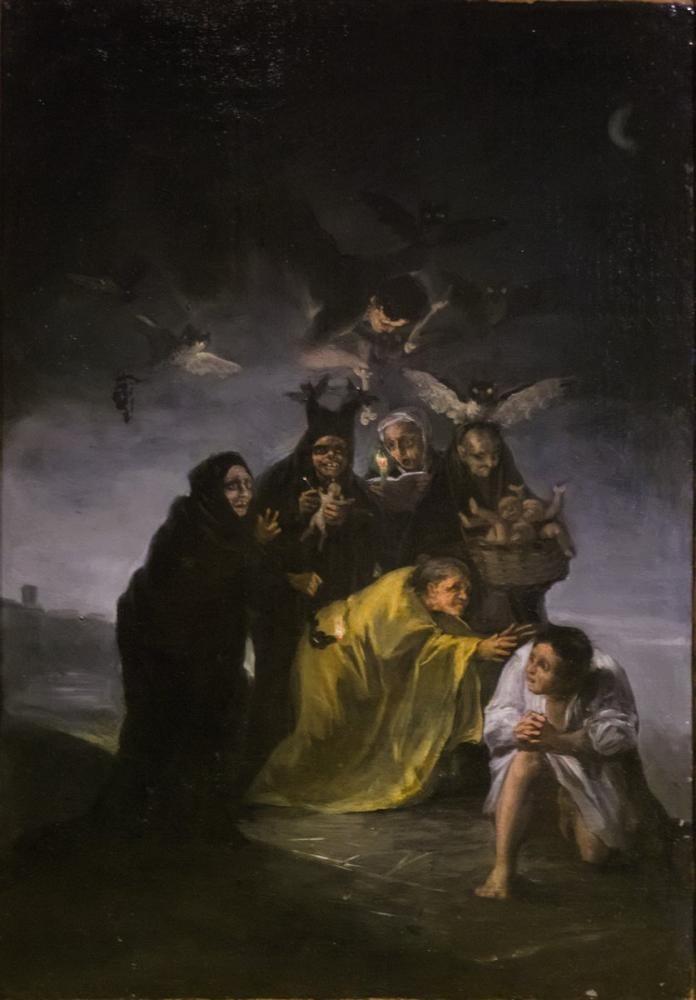 Francisco Goya, The Witches, Figure, Francisco Goya, kanvas tablo, canvas print sales