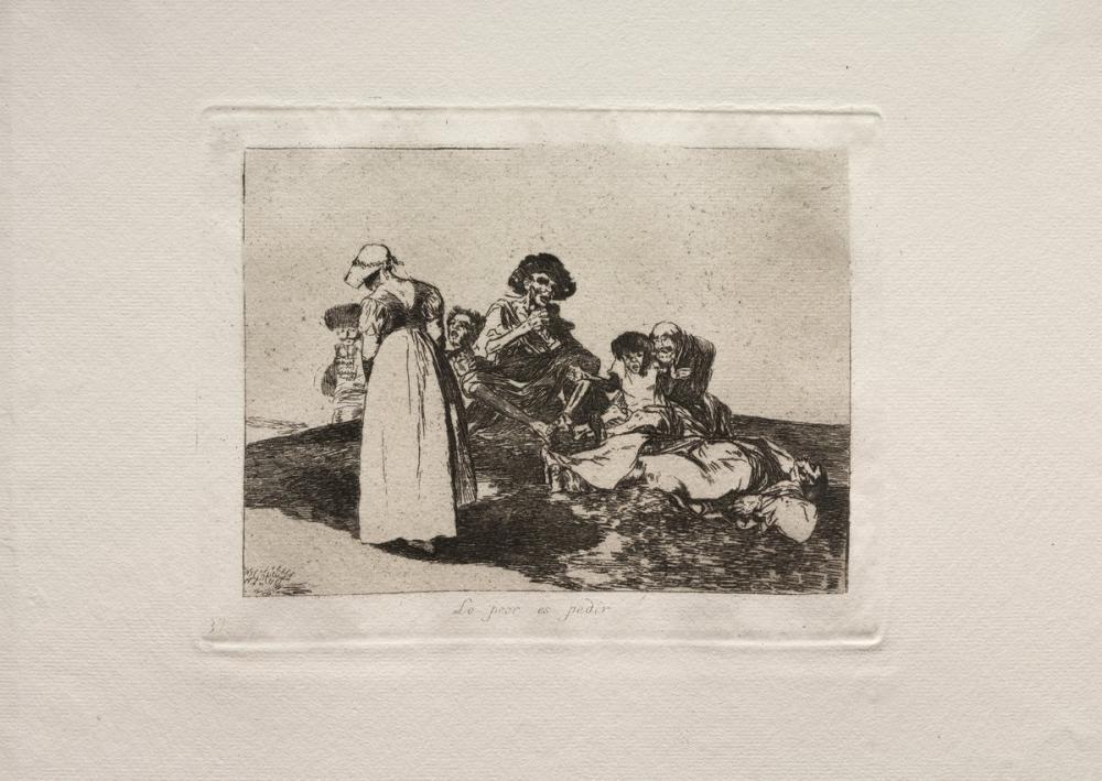 Francisco Goya, En Kötüsü Yalvarmak, Figür, Francisco Goya, kanvas tablo, canvas print sales