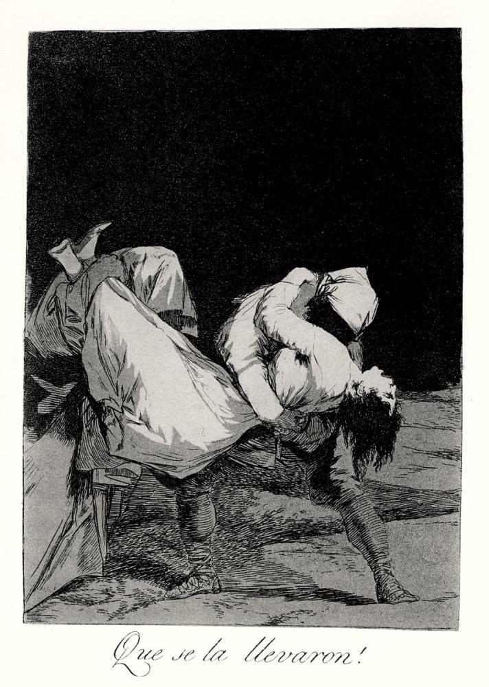 Francisco Goya, Onu Götürdüler, Figür, Francisco Goya, kanvas tablo, canvas print sales