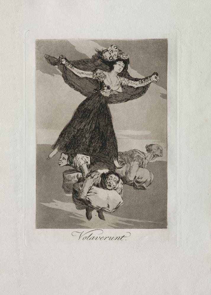 Francisco Goya, Uçtular, Figür, Francisco Goya, kanvas tablo, canvas print sales