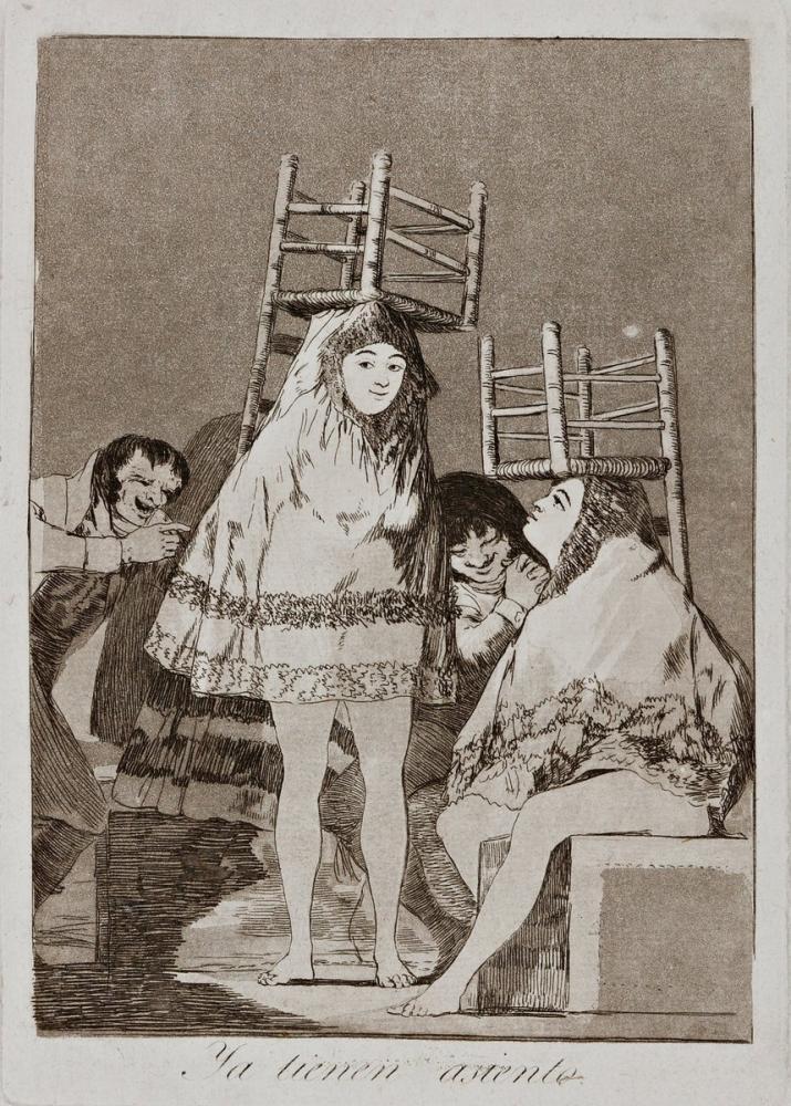 Francisco Goya, They ve Already Got a Seat, Canvas, Francisco Goya, kanvas tablo, canvas print sales
