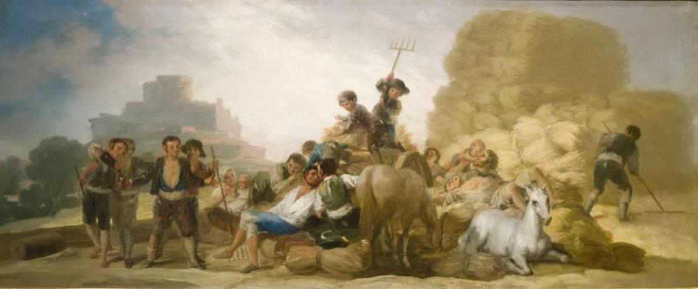 Francisco Goya, Threshing Ground or Summer, Canvas, Francisco Goya, kanvas tablo, canvas print sales