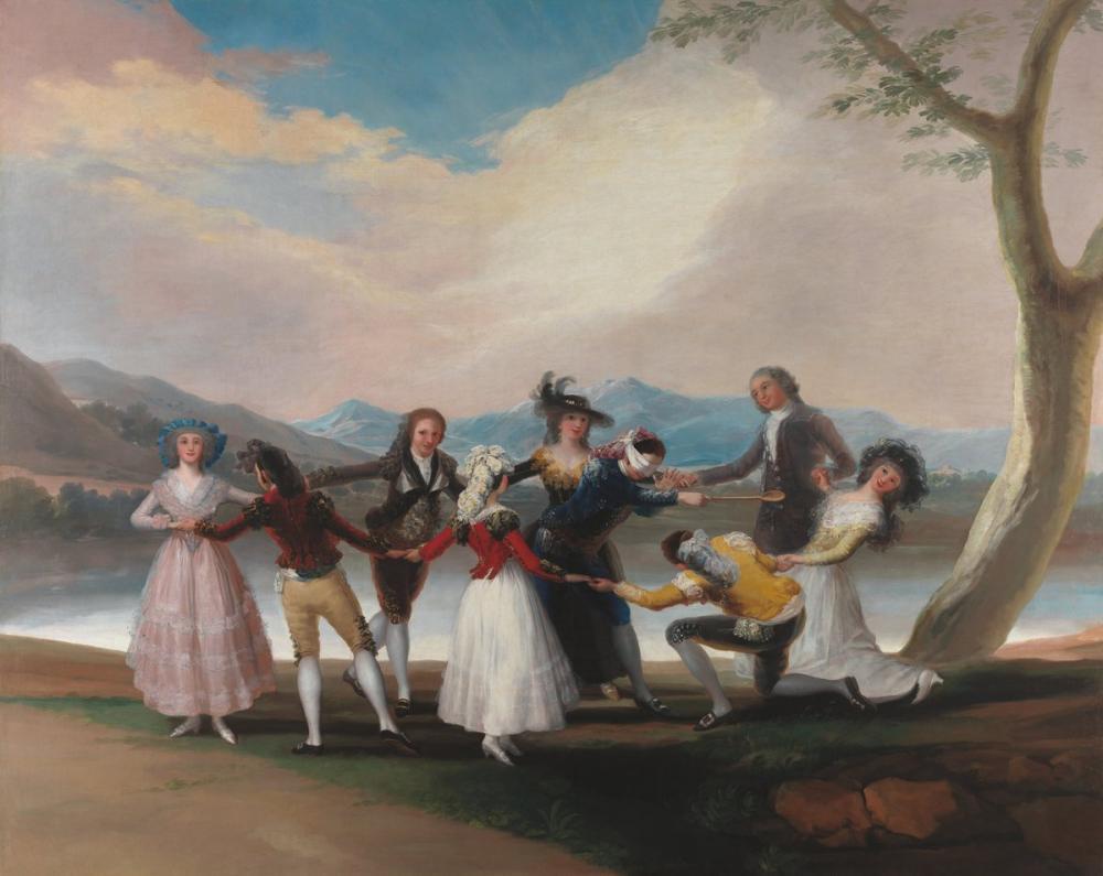 Francisco Goya, Blind Man s Bluff, Canvas, Francisco Goya, kanvas tablo, canvas print sales