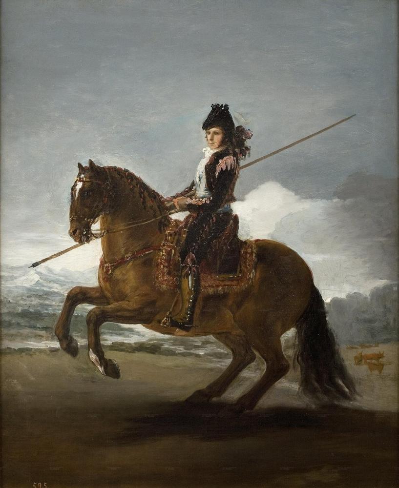 Francisco Goya, Un Garrochista, Canvas, Francisco Goya, kanvas tablo, canvas print sales
