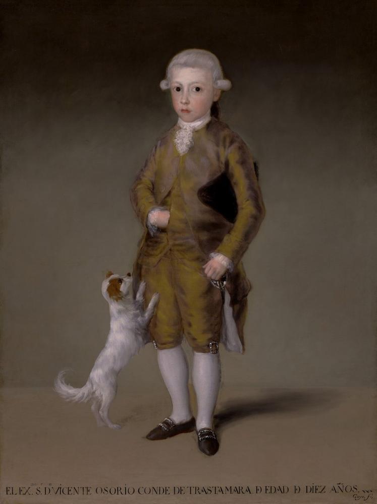 Francisco Goya, Vicente Osorio de Moscoso Çocukken, Kanvas Tablo, Francisco Goya, kanvas tablo, canvas print sales