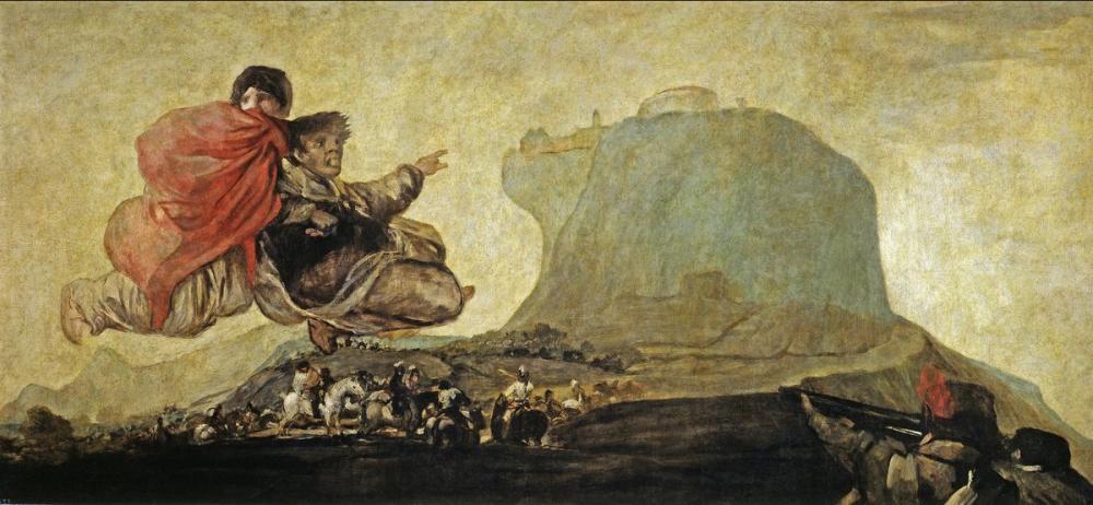Francisco Goya, Fantastik Vizyon veya Asmodea, Kanvas Tablo, Francisco Goya, kanvas tablo, canvas print sales