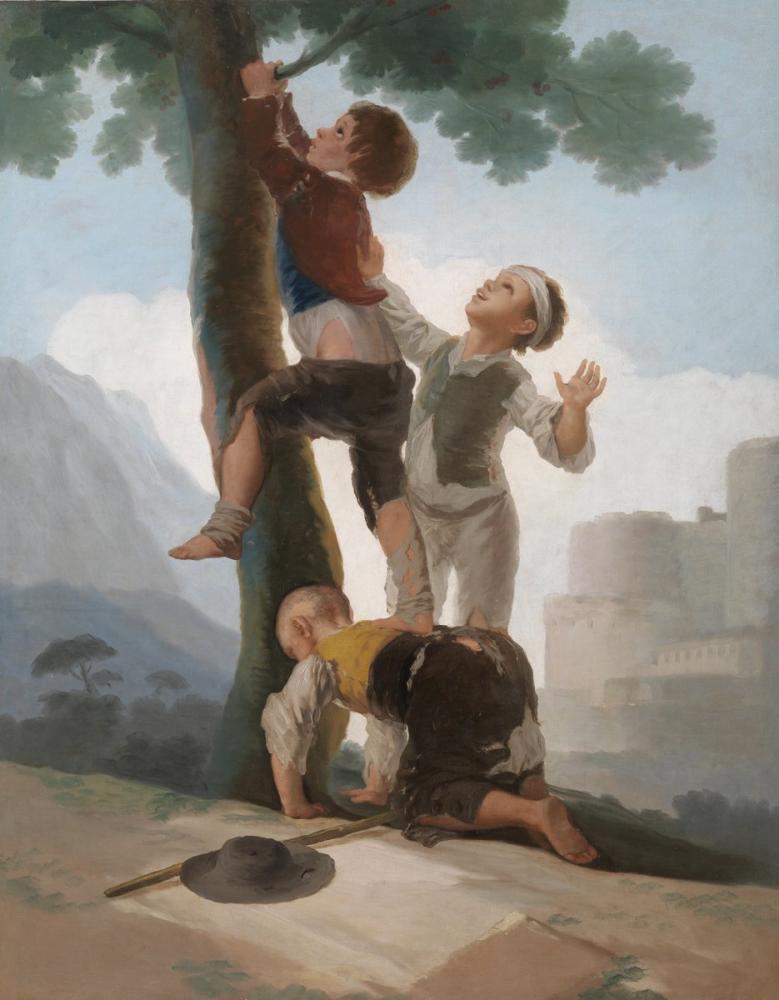 Francisco Goya, Boys Climbing A Tree, Canvas, Francisco Goya, kanvas tablo, canvas print sales