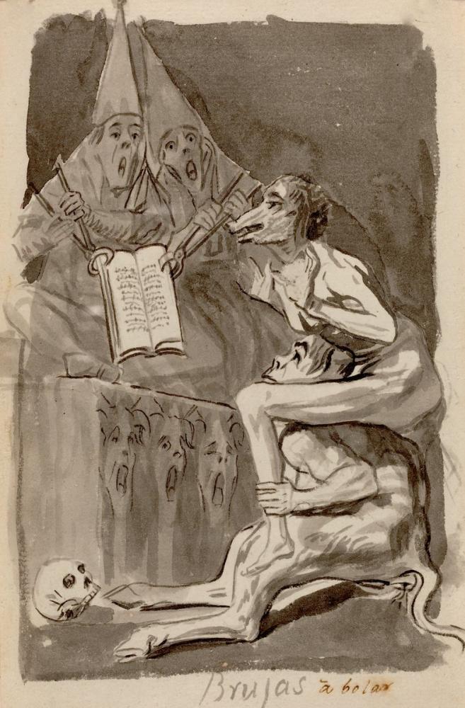Francisco Goya, Witches Preparing to Fly, Figure, Francisco Goya, kanvas tablo, canvas print sales