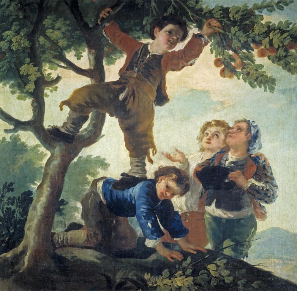 Francisco Goya, Meyve Toplama Çocuklar, Kanvas Tablo, Francisco Goya, kanvas tablo, canvas print sales