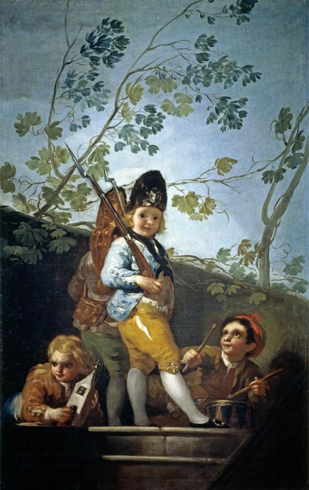 Francisco Goya, Askerler Oynayan Çocuklar, Kanvas Tablo, Francisco Goya, kanvas tablo, canvas print sales