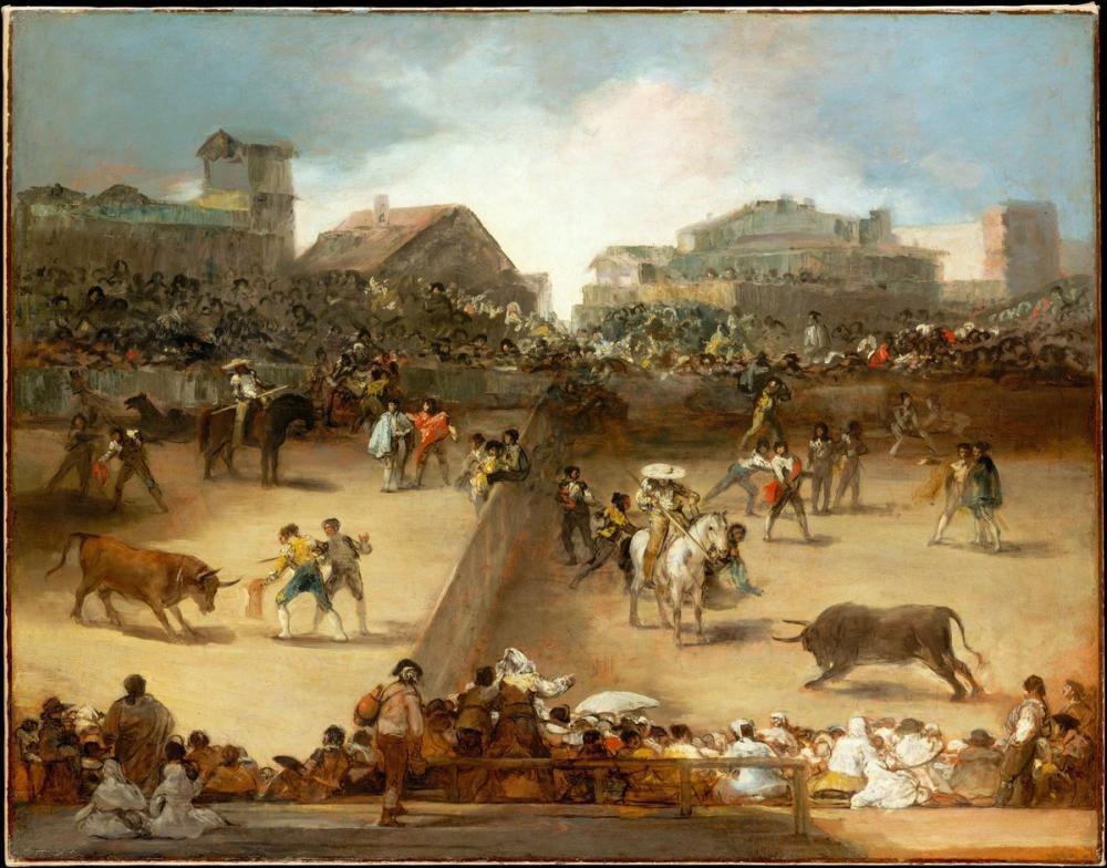 Francisco Goya, Bullfight In A Divided Ring, Canvas, Francisco Goya, kanvas tablo, canvas print sales