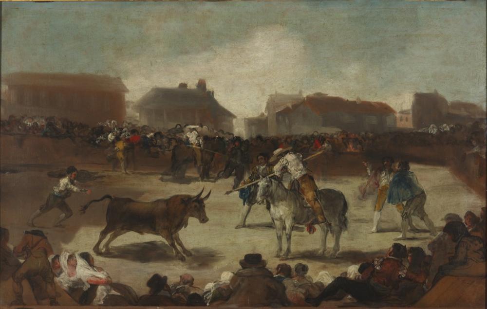 Francisco Goya, Bullfight In A Village, Canvas, Francisco Goya, kanvas tablo, canvas print sales