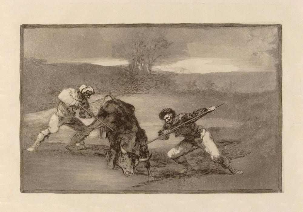 Francisco Goya, Boğa Güreşleri Yürüyerek Başka Bir Avlanma Yolu, Figür, Francisco Goya, kanvas tablo, canvas print sales