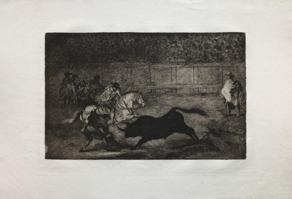 Francisco Goya, Bullfights A Spanish Mounted Knight Breaking Short Spears With The Help, Figure, Francisco Goya, kanvas tablo, canvas print sales