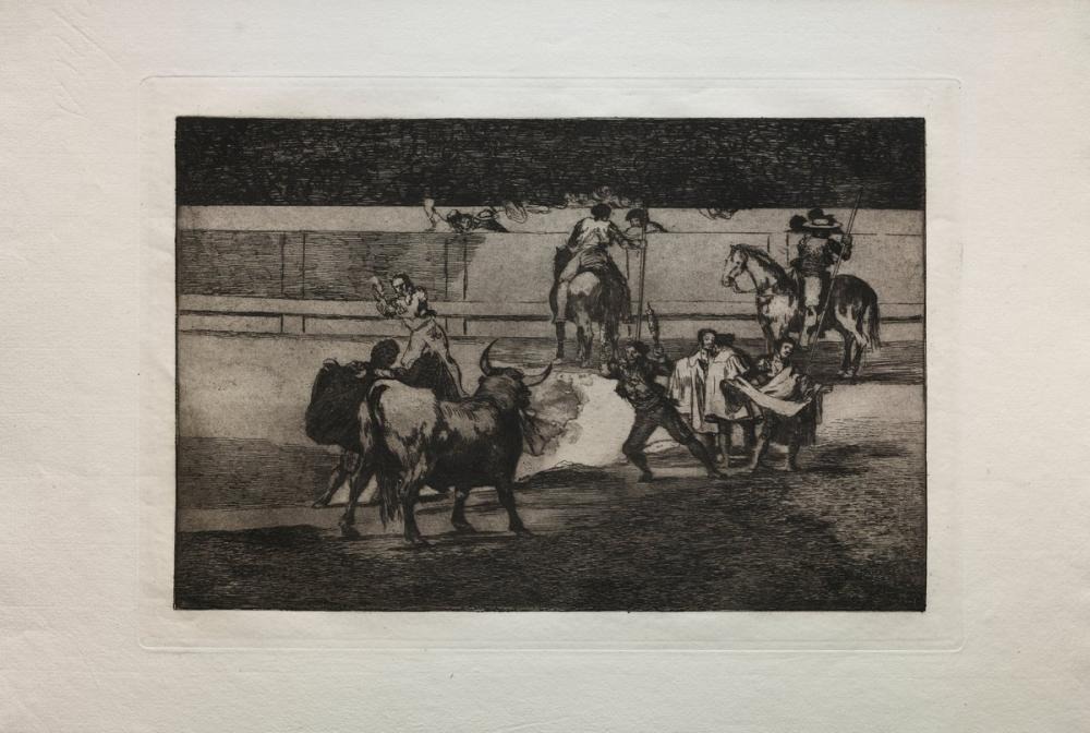 Francisco Goya, Bullfights Banderillas With Firecrackers, Figure, Francisco Goya, kanvas tablo, canvas print sales