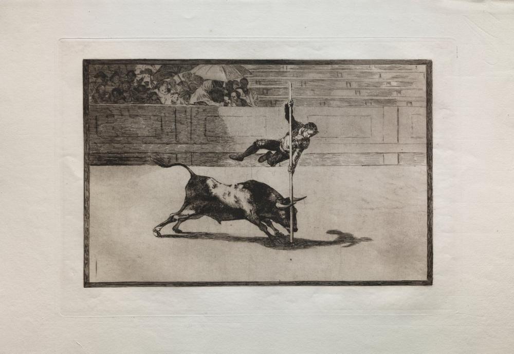 Francisco Goya, Boğa Güreşi Madrid deki Halkadaki Juanito Apinani nin Çevikliği Ve Ciddiyeti, Kanvas Tablo, Francisco Goya, kanvas tablo, canvas print sales