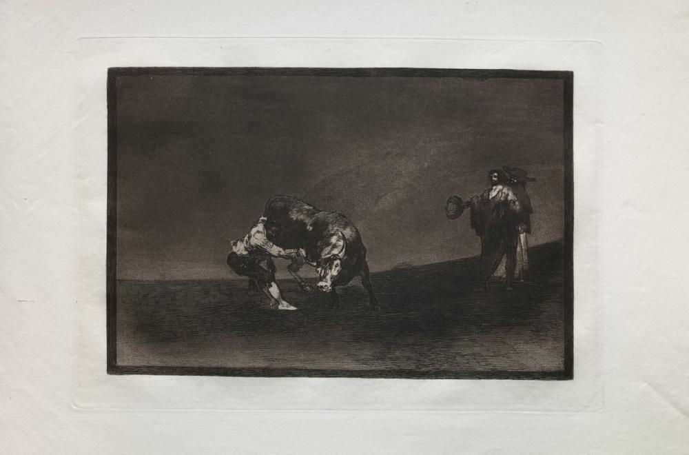 Francisco Goya, Boğa Güreşi Aynı Adam Madrid de Halkaya Bir Boğa Atar, Figür, Francisco Goya, kanvas tablo, canvas print sales