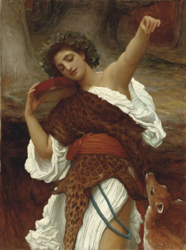 Frederic Leighton Sarhoş Kadın, Kanvas Tablo, Frederic Leighton, kanvas tablo, canvas print sales