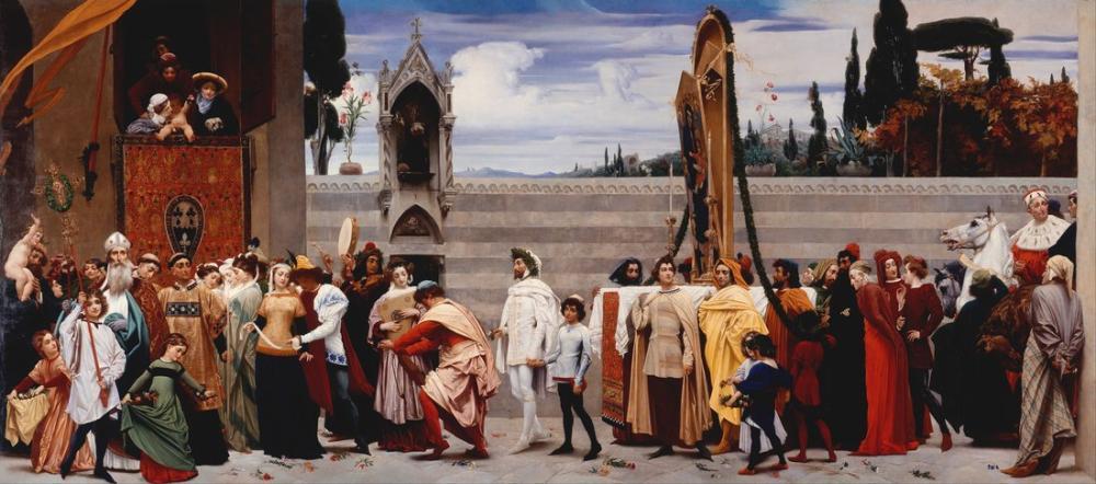 Frederic Leighton Baron Cimabues Madonna Carried In Procession, Canvas, Frederic Leighton, kanvas tablo, canvas print sales