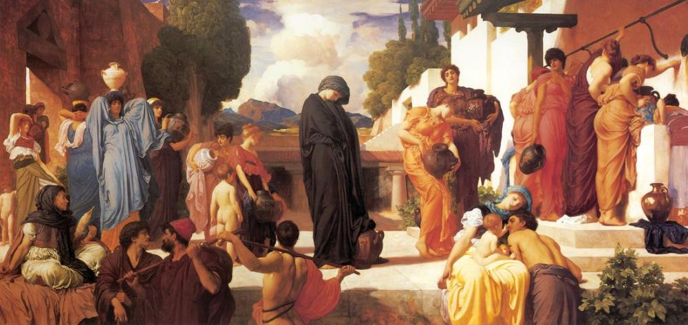 Frederic Leighton Esir Andromache, Kanvas Tablo, Frederic Leighton, kanvas tablo, canvas print sales