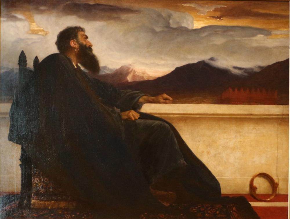 Frederic Leighton David E La Colomba, Canvas, Frederic Leighton, kanvas tablo, canvas print sales