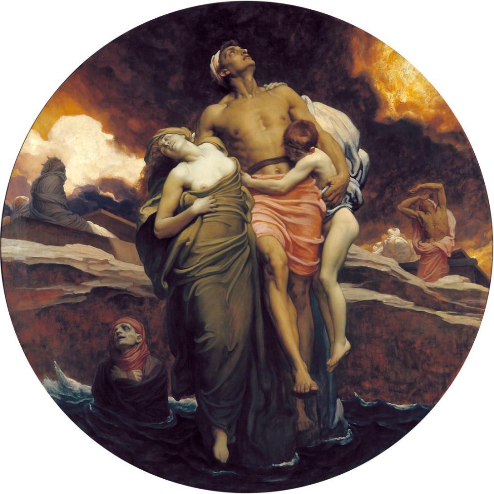 Frederic Leighton Ve Deniz İçinde Bulunan Ölüleri Geri Verdi, Kanvas Tablo, Frederic Leighton, kanvas tablo, canvas print sales