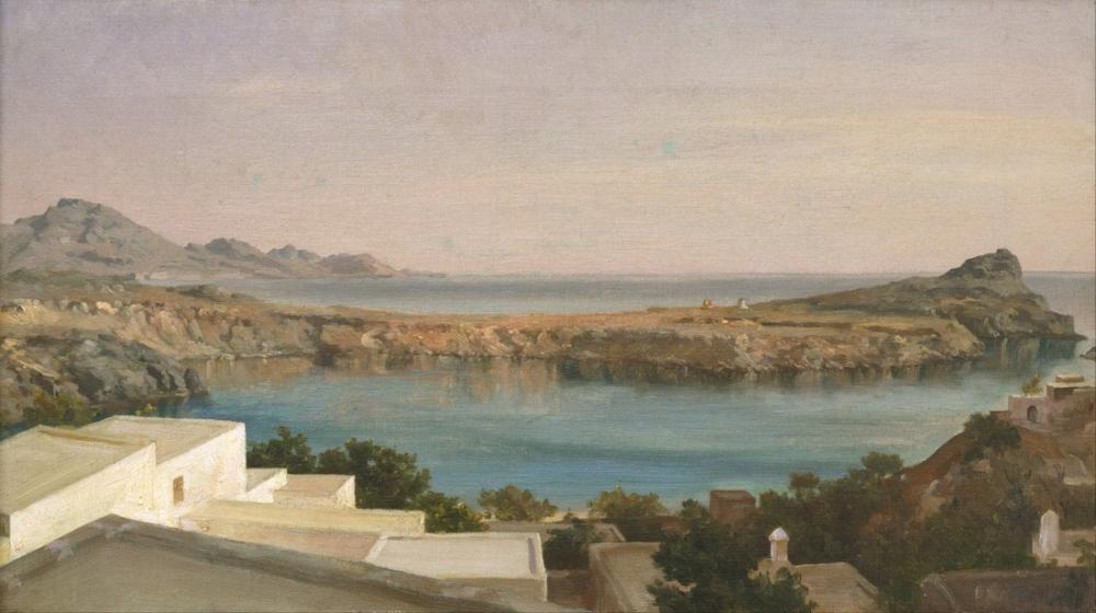 Frederic Leighton Lindos Rhodes, Canvas, Frederic Leighton, kanvas tablo, canvas print sales