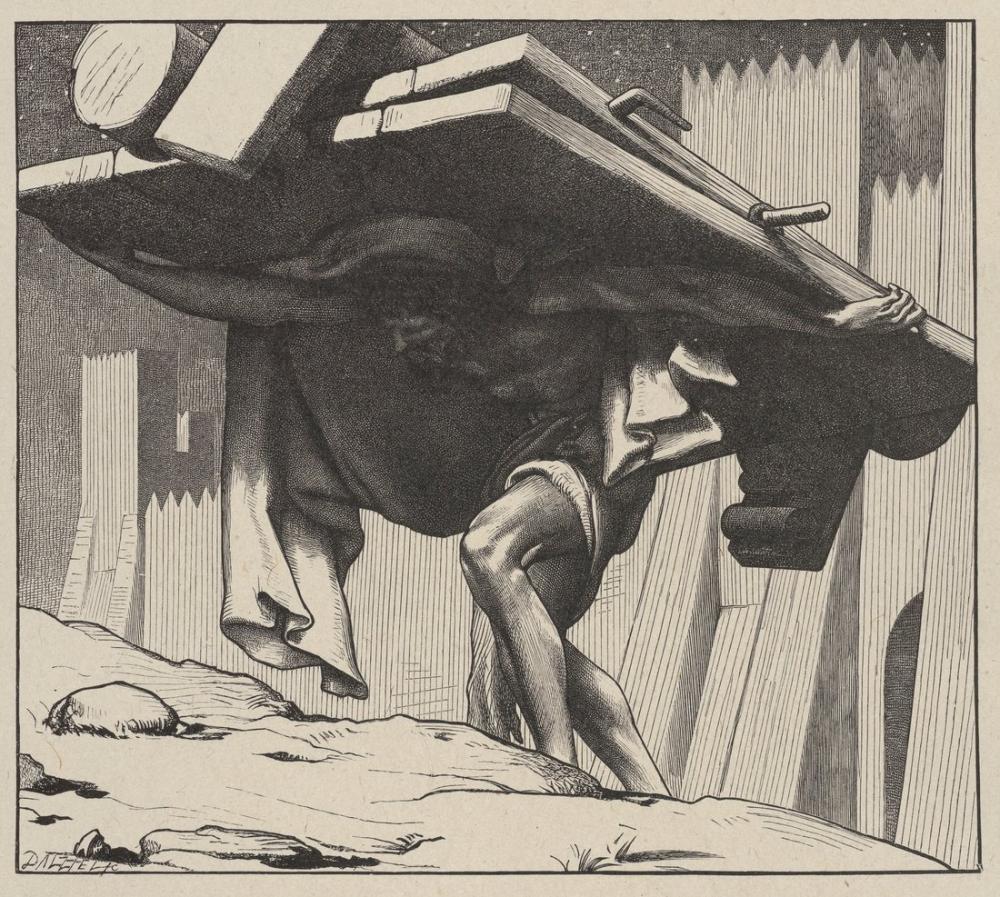 Frederic Leighton Gazze Kapısını Taşıyan Samson, Kanvas Tablo, Frederic Leighton, kanvas tablo, canvas print sales