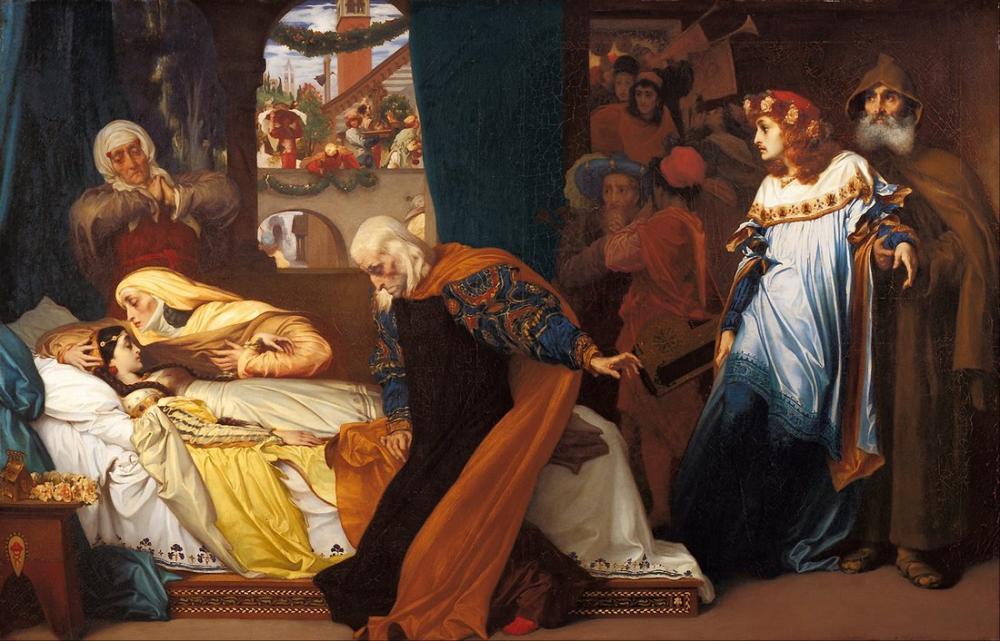 Frederic Leighton Juliet Ateşli Ölüm, Kanvas Tablo, Frederic Leighton, kanvas tablo, canvas print sales