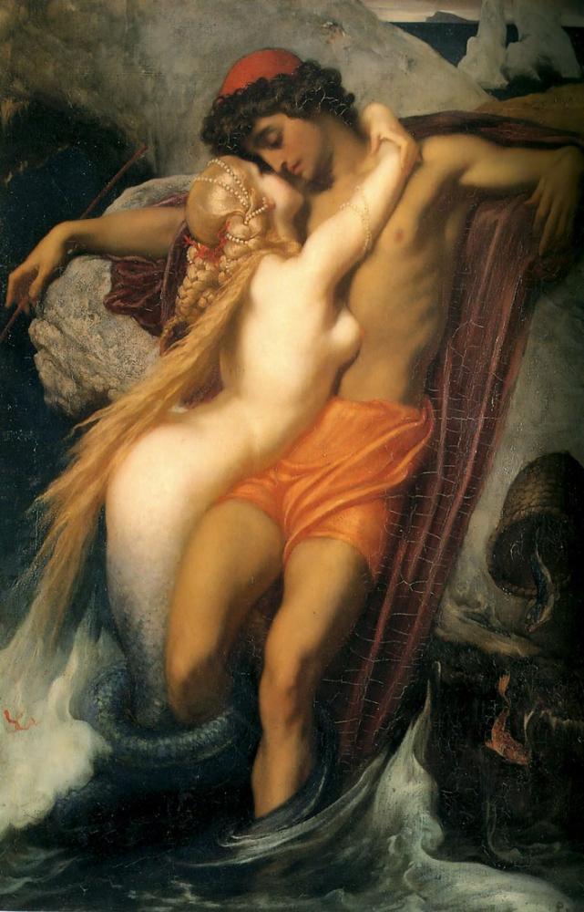 Frederic Leighton Balıkçı Ve Syren, Kanvas Tablo, Frederic Leighton, kanvas tablo, canvas print sales