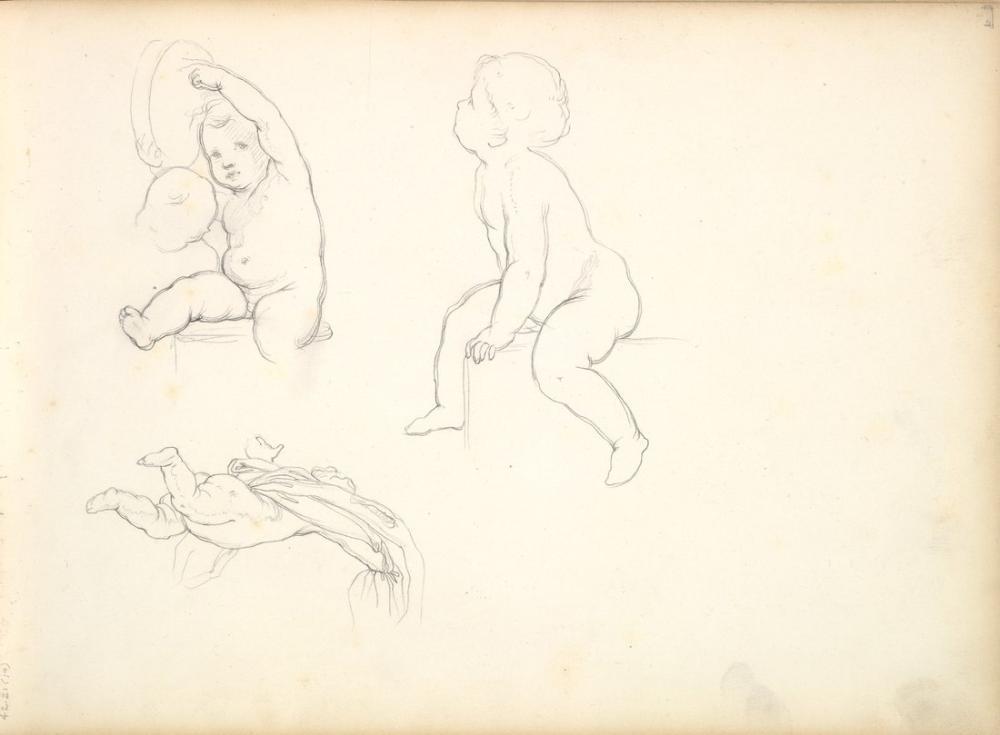 Frederic Leighton Three Children In Sketch, Canvas, Frederic Leighton, kanvas tablo, canvas print sales