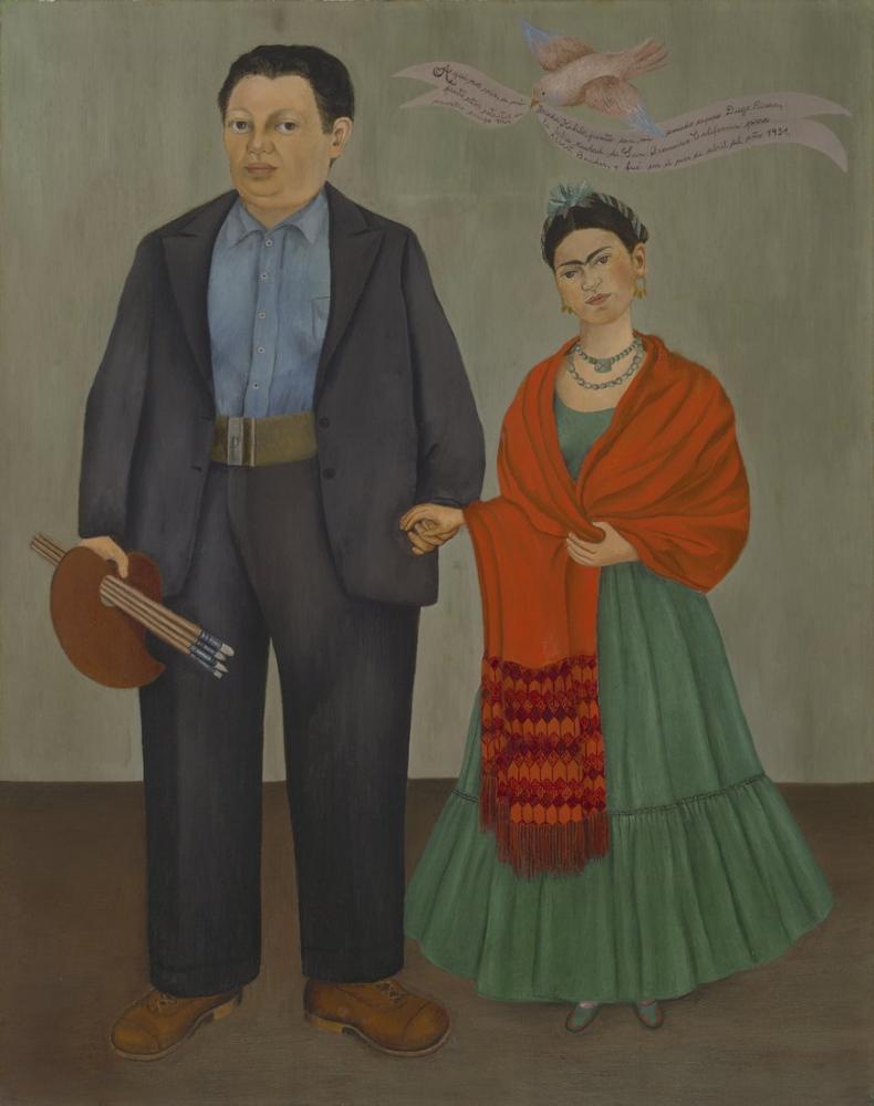 Frida Kahlo Frieda And Diego Rivera, Canvas, Frida Kahlo, kanvas tablo, canvas print sales