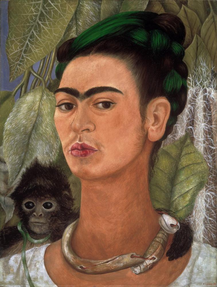 Frida Kahlo Maymun İle Otoportre, Kanvas Tablo, Frida Kahlo, kanvas tablo, canvas print sales