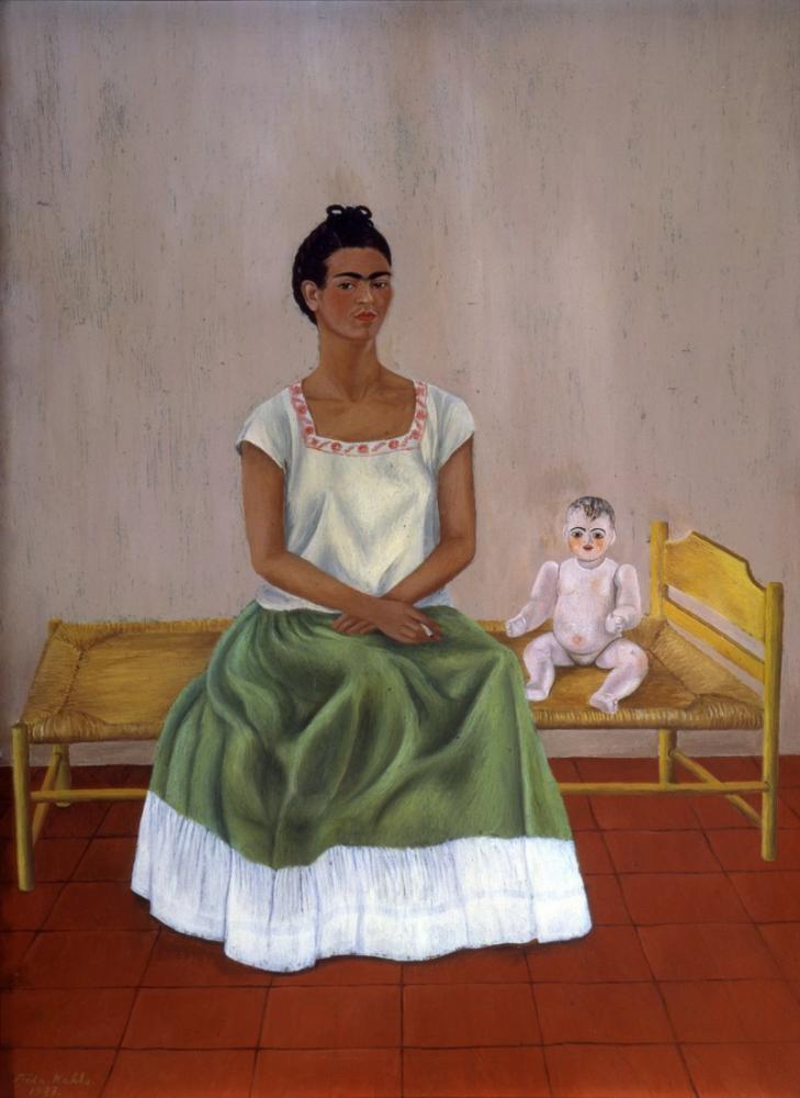 Frida Kahlo Ben Ve Bebeğim, Kanvas Tablo, Frida Kahlo, kanvas tablo, canvas print sales