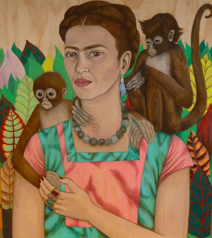 Frida Kahlo Monique La Fontaine Maymun İkizleri, Kanvas Tablo, Frida Kahlo, kanvas tablo, canvas print sales