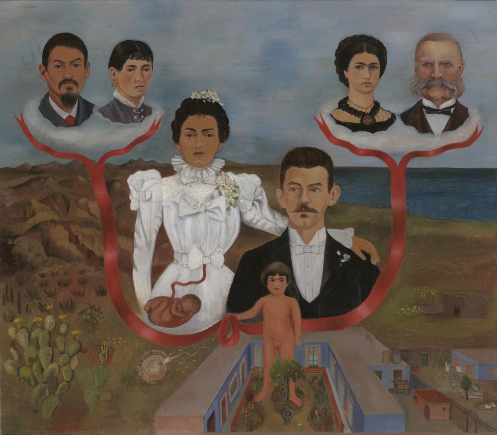Frida Kahlo Dedem ve Ailem Ve Ben Soy Ağacı, Kanvas Tablo, Frida Kahlo, kanvas tablo, canvas print sales