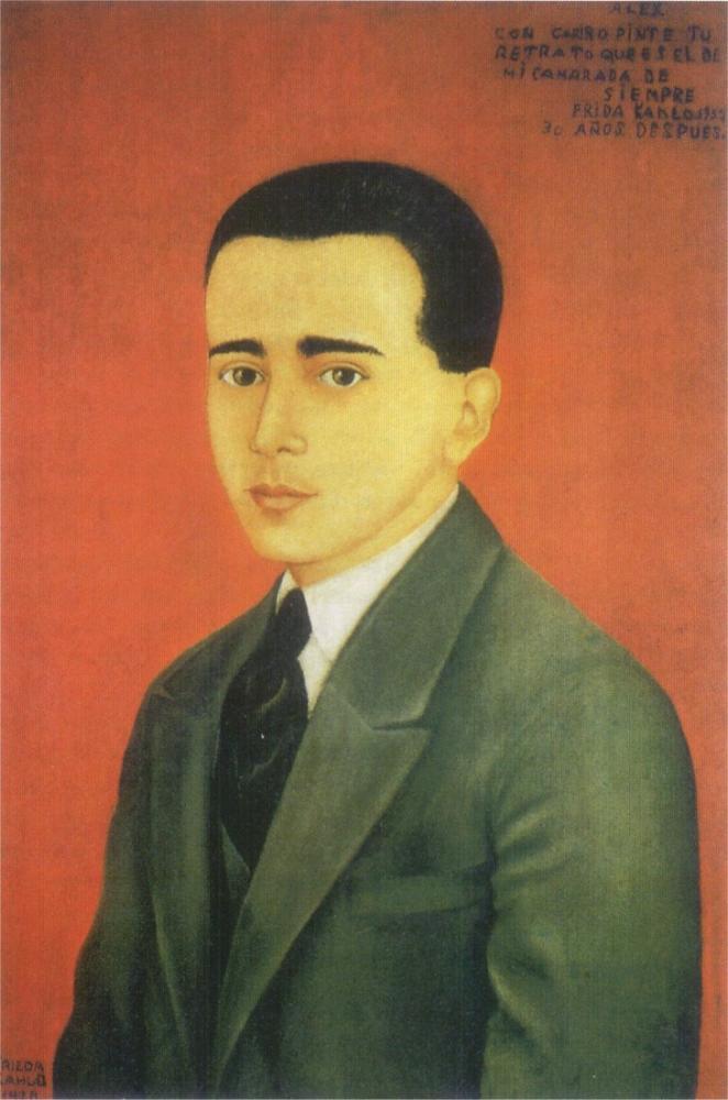 Frida Kahlo Alejandro Gomez Arias Portresi, Kanvas Tablo, Frida Kahlo, kanvas tablo, canvas print sales