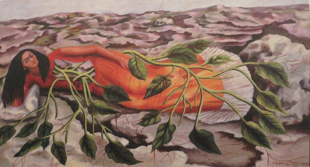 Frida Kahlo Roots, Canvas, Frida Kahlo, kanvas tablo, canvas print sales