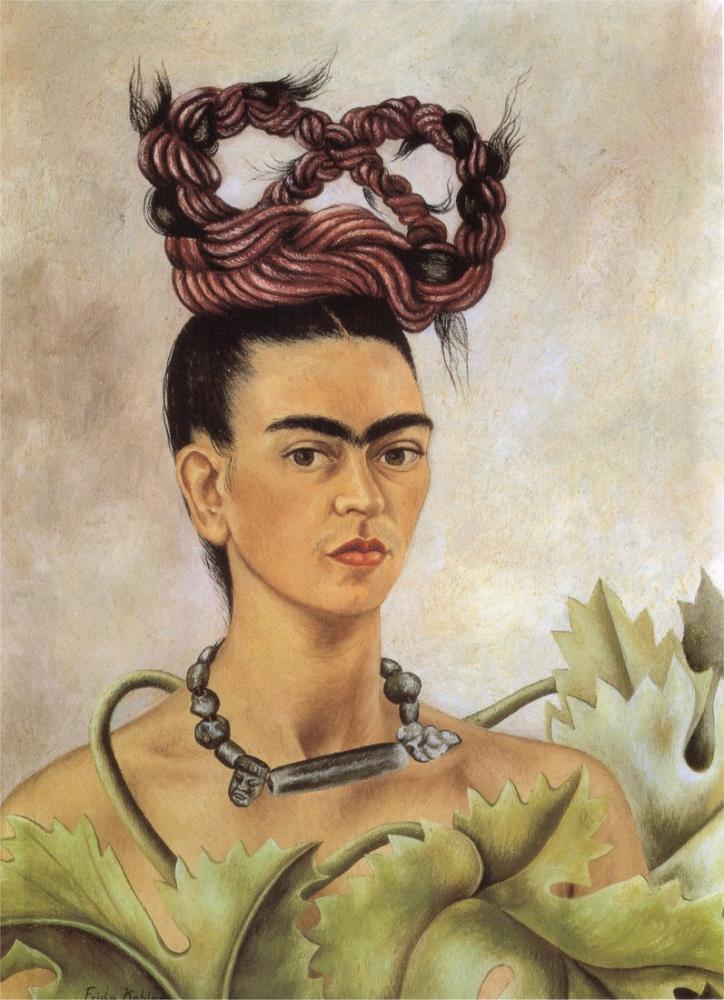 Frida Kahlo Örgü İle Otoportre, Kanvas Tablo, Frida Kahlo, kanvas tablo, canvas print sales
