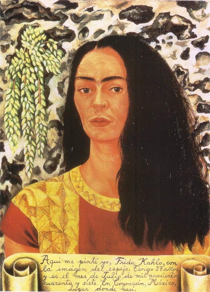 Frida Kahlo Gevşek Saçlı Otoportre, Kanvas Tablo, Frida Kahlo, kanvas tablo, canvas print sales