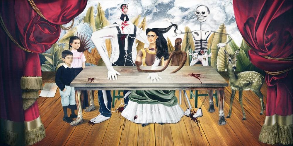 Frida Kahlo The Wounded Table, Canvas, Frida Kahlo, kanvas tablo, canvas print sales